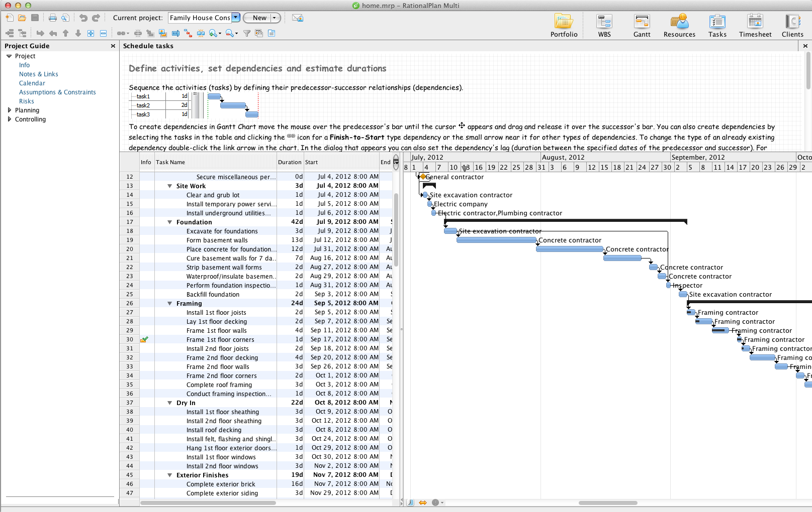 RationalPlan Multi Project for Mac full screenshot
