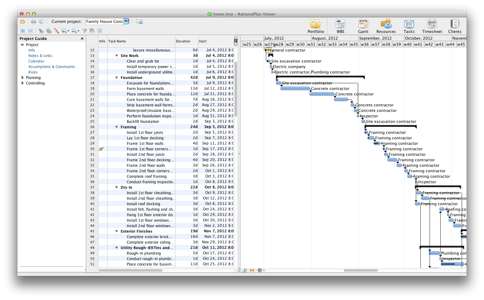RationalPlan Project Viewer for Mac Screenshot