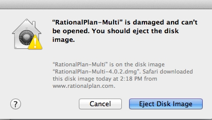 RationalPlan on Mac OS X Mountain Lion