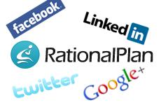 Social media networks for RatinalPlan Project Management Software