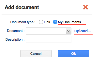 Upload and attach documents